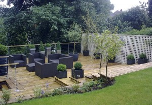 Modern Raised Decking