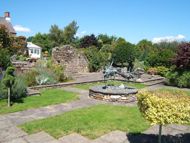 Bird Statues and Garden Paths