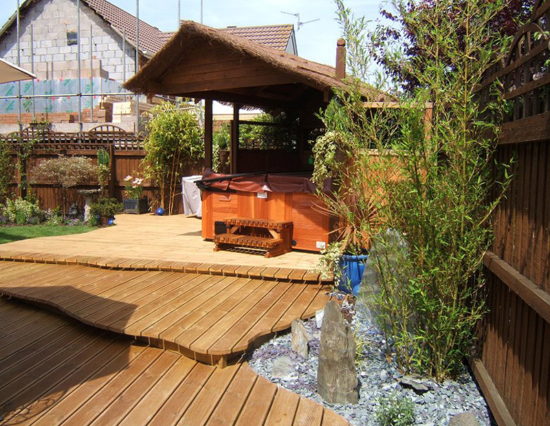 Decking and Outdoor Spa