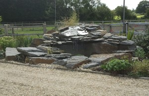 Rock and Stone Water Feature