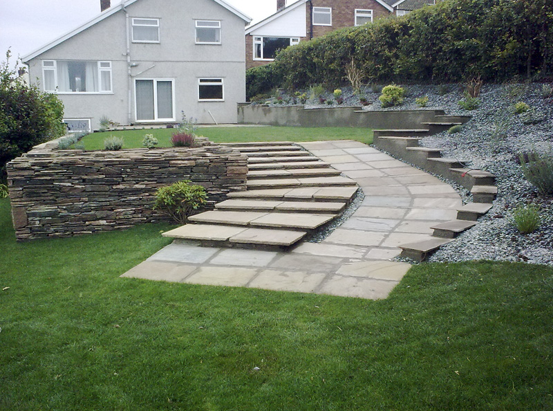 Sandstone Ramp and Steps