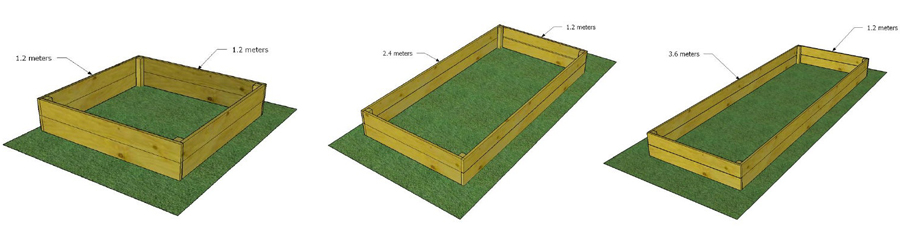 Raised beds for planting and growing your own