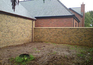 Home garden before turfing grass