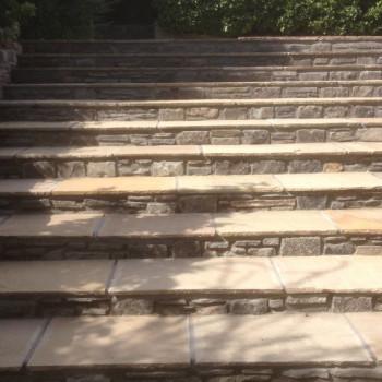 Stonework garden steps